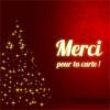 Cartes de voeux Noël  Merci