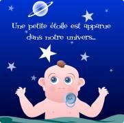 Carte de voeux : Une étoile dans notre univers