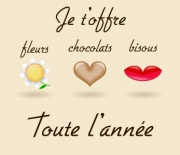 Carte de voeux : Pour la Saint Valentin