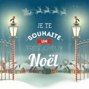 Carte de voeux : Je te souhaite un très joyeux Noël