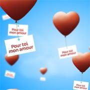 Carte de voeux : Lâcher de ballons