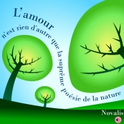 Carte de voeux : La poésie de la nature... (Novalis)