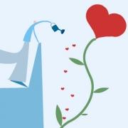 Carte de voeux : J'arrose notre amour