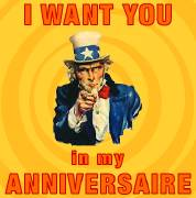 Carte de voeux : I want you in my anniversaire