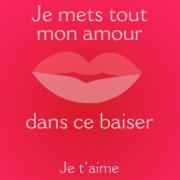 Carte de voeux : Chaque baiser a un sens