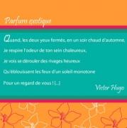 """Carte de voeux : """"Parfum exotique"""", C. Baudelaire"""
