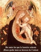 Carte de voeux : Jésus et Marie