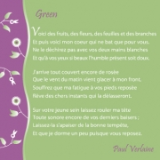 """Carte de voeux : """"Green"""", P. Verlaine"""