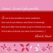 """Carte de voeux : """"Sonnet : se voir..."""" A. de Musset"""