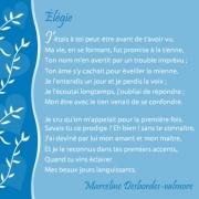"""Carte de voeux : """"Elégie: j'étais peut-être"""" M. Desborde-Valmor"""