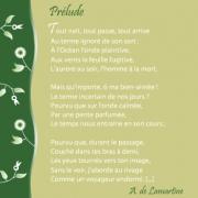"""Carte de voeux : """"Prélude"""" A. de Lamartine"""