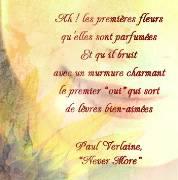 "Carte de voeux : ""Nerver more"", P. Verlaine"