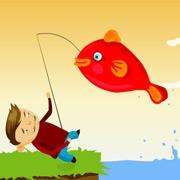 Carte de voeux : Partie de pêche