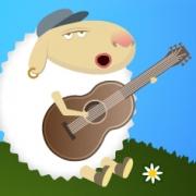 Carte de voeux : Mouton chanteur