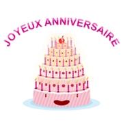 Carte de voeux : Gâteau d'anniversaire