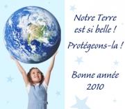 Carte de voeux : Protégeaons la Terre !