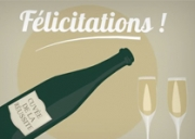 Carte de voeux : Champagne !