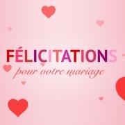 carte de voeux flicitations en coeurs - Carte Flicitation Mariage
