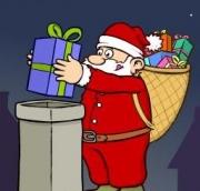 Carte de voeux : Les aventures du Père Noël