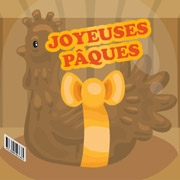 Carte de voeux : Poule en chocolat
