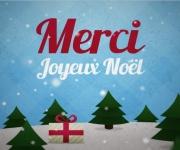Carte de voeux : Merci, joyeux Noël
