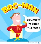 Carte de voeux : Bac-man, superhéros