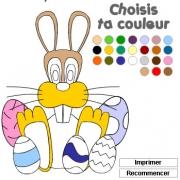 Carte de voeux : Colorie Pâques