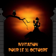 Carte de voeux : Invitation pour Halloween