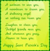 Carte de voeux : Saint Patrick's Poem