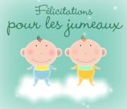 Carte de voeux : Félicitations pour les jumeaux