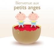 Carte de voeux : Bienvenue aux petits anges