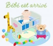Carte de voeux : Bébé est arrivé !