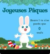Carte de voeux : Rattrape les œufs !
