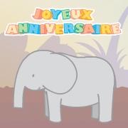 Carte de voeux : Histoire d'éléphant