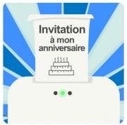 Carte de voeux : Invitation à mon anniversaire