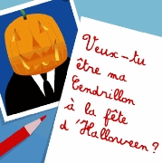 Carte de voeux : Invitation Citrouille