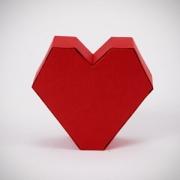 Carte de voeux : Coeur de papier