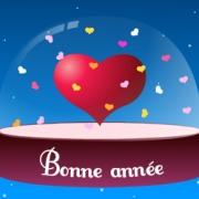 Carte de voeux : Bonne année mon cœur