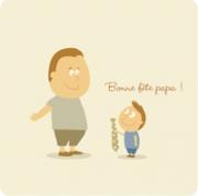 Carte de voeux : Bonne fête (quand même) papa