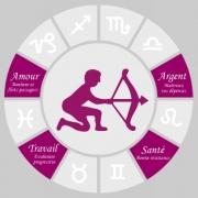 Carte de voeux : Sagittaire