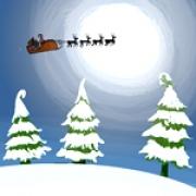 Carte de voeux : Le traîneau du Père Noël