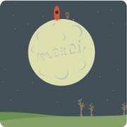 Carte de voeux : merci de la lune