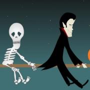 Carte de voeux : Parade d'Halloween