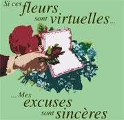 Carte de voeux : ... mes excuses sont sincères