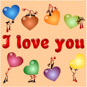 Carte de voeux : I love you