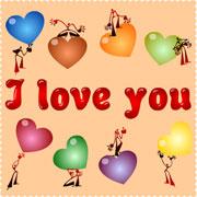 Carte de voeux : I love you