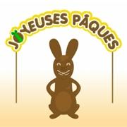 Carte de voeux : Le lapin en chocolat